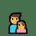 👨👧 family: man, girl Emoji on Windows Platform