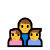 👨👧👦 family: man, girl, boy Emoji on Windows Platform