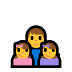👨👧👧 family: man, girl, girl Emoji on Windows Platform
