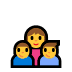 👩‍👦‍👦 family: woman, boy, boy Emoji on Windows Platform