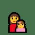 👩👧 family: woman, girl Emoji on Windows Platform
