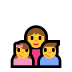 👩‍👧‍👦 family: woman, girl, boy Emoji on Windows Platform