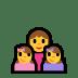 👩👧👧 family: woman, girl, girl Emoji on Windows Platform