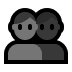 👥 busts in silhouette Emoji on Windows Platform