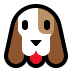 🐶 dog face Emoji on Windows Platform