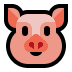 🐷 pig face Emoji on Windows Platform
