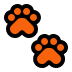 🐾 paw prints Emoji on Windows Platform