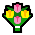 💐 bouquet Emoji on Windows Platform