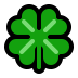🍀 four leaf clover Emoji on Windows Platform