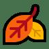 🍂 fallen leaf Emoji on Windows Platform
