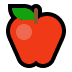 🍎 red apple Emoji on Windows Platform