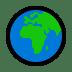 🌍 globe showing Europe-Africa Emoji on Windows Platform