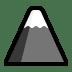 🗻 mount fuji Emoji on Windows Platform
