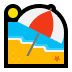 🏖️ beach with umbrella Emoji on Windows Platform