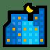 🌃 night with stars Emoji on Windows Platform