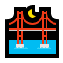 🌉 bridge at night Emoji on Windows Platform