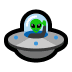 🛸 flying saucer Emoji on Windows Platform