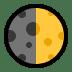 🌓 first quarter moon Emoji on Windows Platform