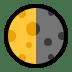 🌗 Last Quarter Moon Emoji on Windows Platform