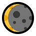 🌘 waning crescent moon Emoji on Windows Platform