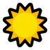 ☀️ sun Emoji on Windows Platform
