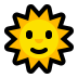 🌞 sun with face Emoji on Windows Platform