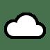 ☁️ cloud Emoji on Windows Platform