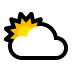 ⛅ sun behind cloud Emoji on Windows Platform
