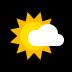 🌤️ sun behind small cloud Emoji on Windows Platform