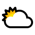 🌥️ sun behind large cloud Emoji on Windows Platform