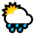 🌦️ Sun Behind Rain Cloud Emoji on Windows Platform