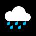 🌧️ cloud with rain Emoji on Windows Platform