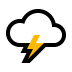 🌩️ Cloud With Lightning Emoji on Windows Platform