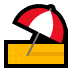 ⛱️ umbrella on ground Emoji on Windows Platform