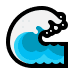 🌊 water wave Emoji on Windows Platform