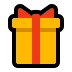 🎁 wrapped gift Emoji on Windows Platform
