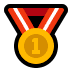 🥇 1st place medal Emoji on Windows Platform