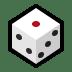 🎲 game die Emoji on Windows Platform
