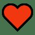 ♥️ heart suit Emoji on Windows Platform