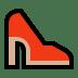 👠 high-heeled shoe Emoji on Windows Platform