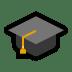 🎓 graduation cap Emoji on Windows Platform