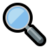 🔍 magnifying glass tilted left Emoji on Windows Platform