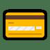 💳 credit card Emoji on Windows Platform