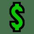 💲 heavy dollar sign Emoji on Windows Platform