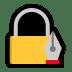 🔏 locked with pen Emoji on Windows Platform