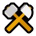 ⚒️ hammer and pick Emoji on Windows Platform