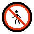 🚷 No Pedestrians Sign Emoji on Windows Platform