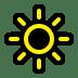 🔆 bright button Emoji on Windows Platform
