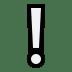 ❕ White Exclamation Mark Emoji on Windows Platform