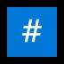 #️⃣ keycap: # Emoji on Windows Platform
